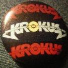 KROKUS PINBACK BUTTON multi logo VINTAGE