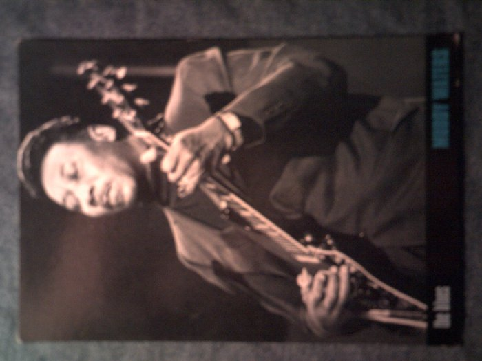 MUDDY WATERS POSTCARD pic w/guitar blues IMPORT SALE