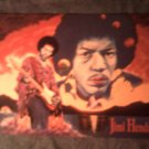 JIMI HENDRIX POSTCARD Double Lightning painting IMPORT