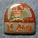 DEF LEPPARD TACK PIN Pyromania half oval button VINTAGE