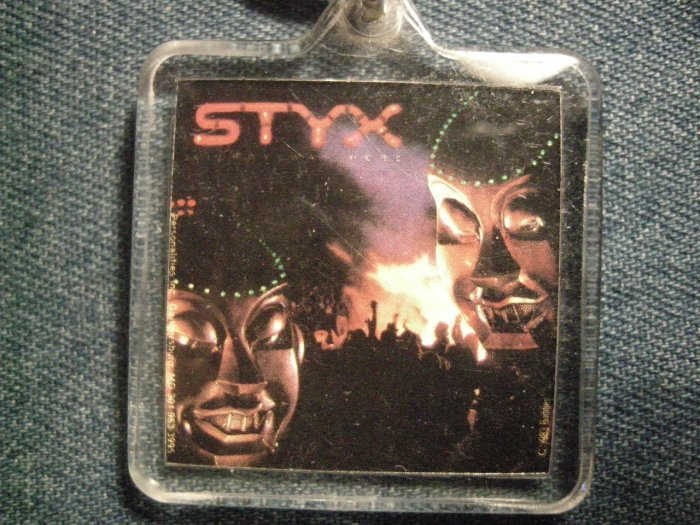 STYX KEYCHAIN Kilroy Was Here mr roboto key chain VINTAGE