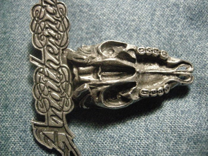 ANATHEMA METAL PIN skull logo badge IMPORT