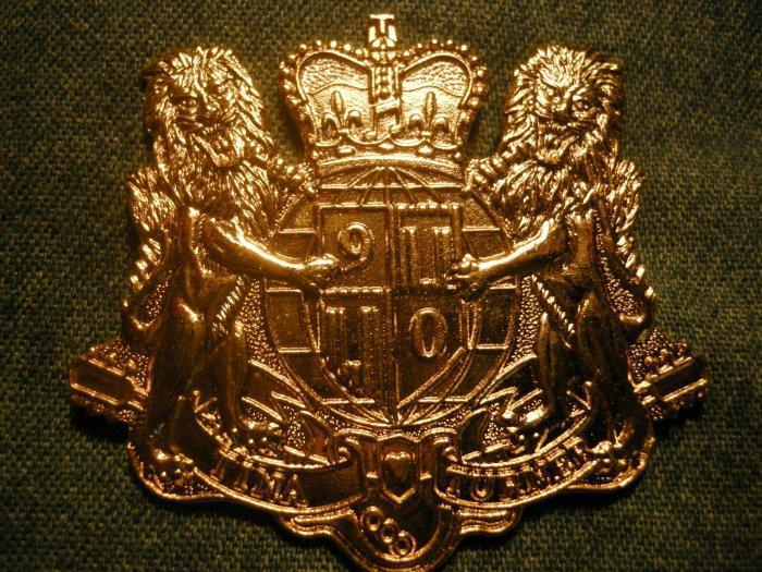 TINA TURNER METAL PIN 1990 Tour gold crest badge IMPORT