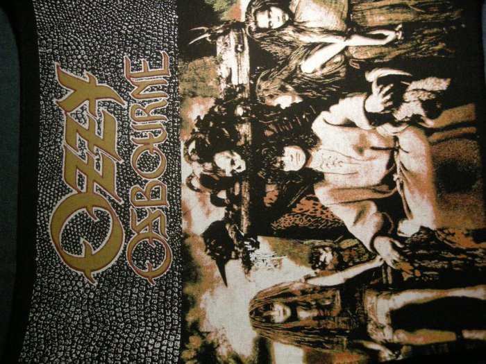 OZZY OSBOURNE BACKPATCH No Rest for the Wicked VINTAGE