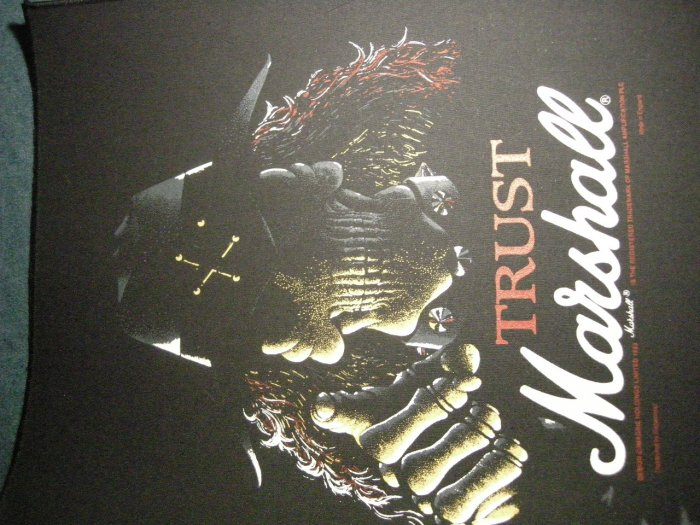 MARSHALL BACKPATCH Trust skull guitar amp patch IMPORT