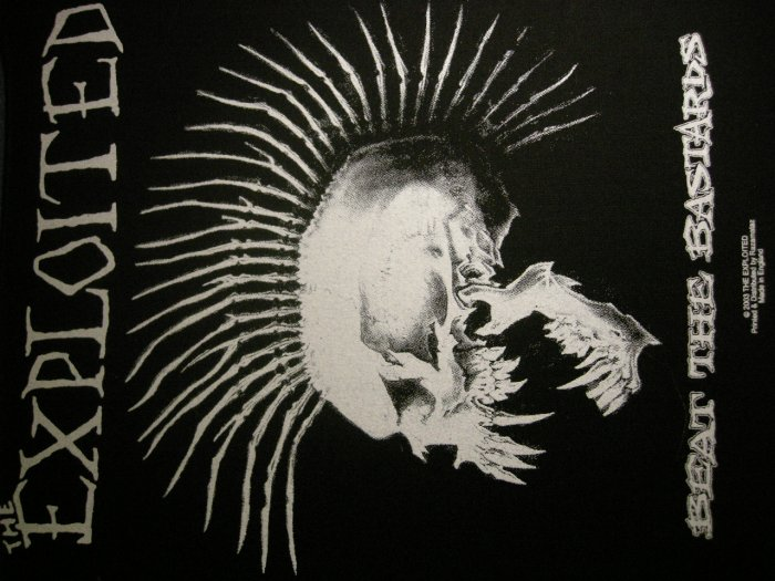 THE EXPLOITED BACKPATCH Beat the Bastards skull punk patch IMPORT