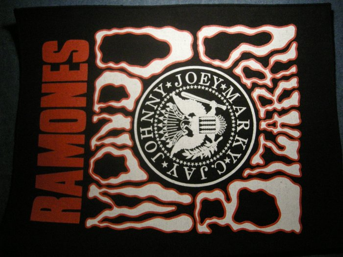 THE RAMONES BACKPATCH Mondo Bizarro punk patch IMPORT