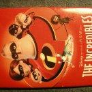 THE INCREDIBLES PINBACK BUTTON disney pixar VIDEO PROMO