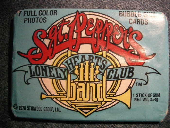 SGT PEPPERS LONELY HEARTS CLUB BAND TRADING CARDS 1978 movie beatles bubble gum SEALED PACK!