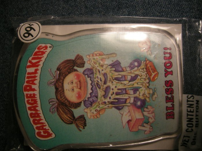 GPK PINBACK BUTTON Bless You! garbage pail kids VINTAGE