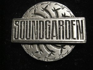 SOUNDGARDEN METAL PIN Badmotorfinger logo badge VINTAGE