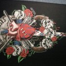 GUNS N ROSES BACKPATCH human heart skulls logo patch VINTAGE