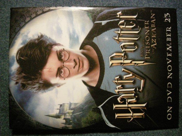 HARRY POTTER PINBACK BUTTON Prisoner of Azkaban video PROMO