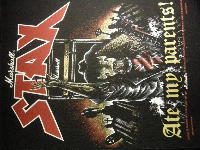 MARSHALL BACKPATCH Stax Ate My Parents guitar amp patch IMPORT