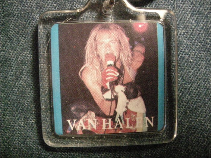 VAN HALEN KEYCHAIN David Lee Roth pic key chain VINTAGE 80s!