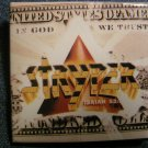 STRYPER PINBACK BUTTON square In God We Trust album art VINTAGE