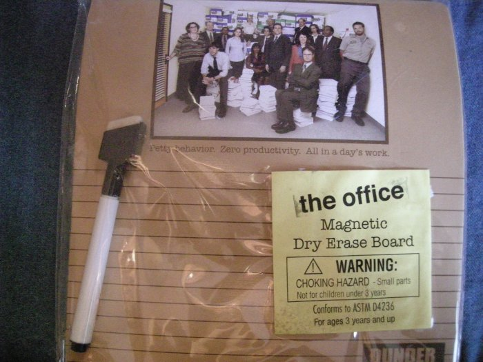 THE OFFICE DRY ERASE BOARD staff pic dunder mifflin NEW!