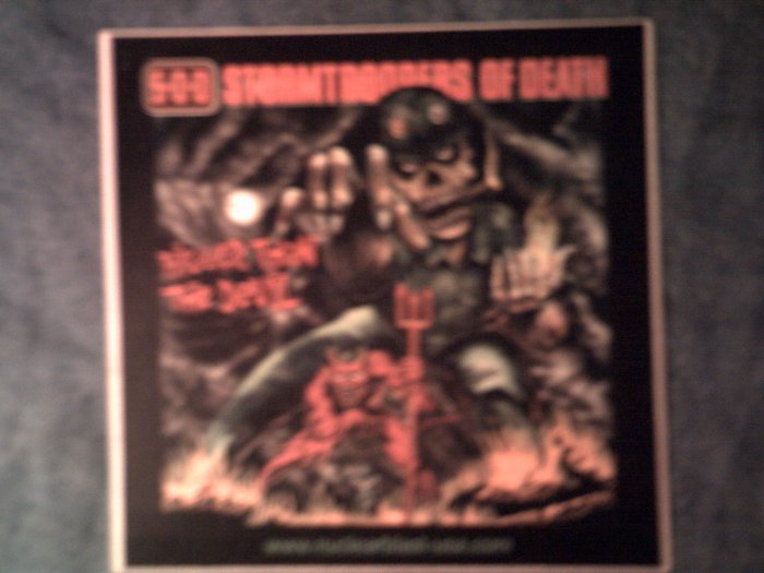 S.O.D. STICKER Bigger Than The Devil stormtroopers of death sod mod