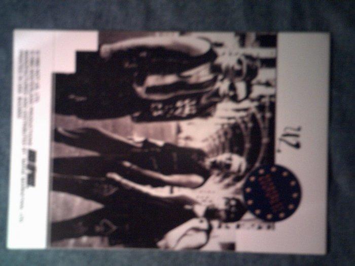 U2 STICKER Zooropa band pic bono