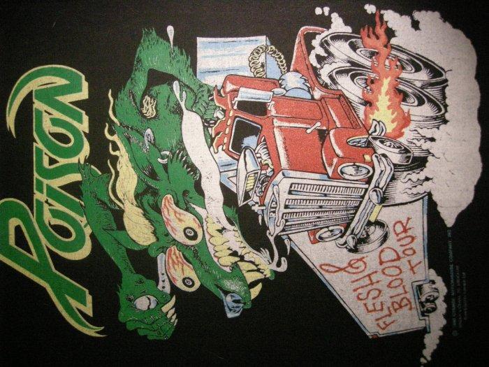 POISON BACKPATCH Flesh & Blood Tour trucker patch VINTAGE