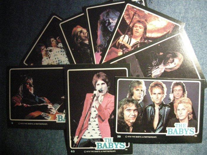 THE BABYS TRADING CARDS 1979 Rock Stars john waite LOT OF 8!