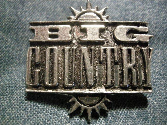 BIG COUNTRY METAL PIN logo badge VINTAGE SALE