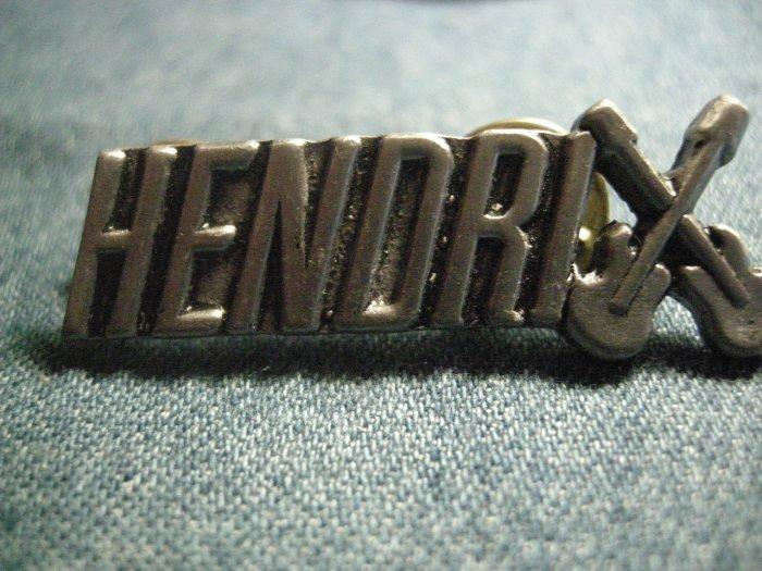 JIMI HENDRIX METAL PIN guitars logo badge VINTAGE