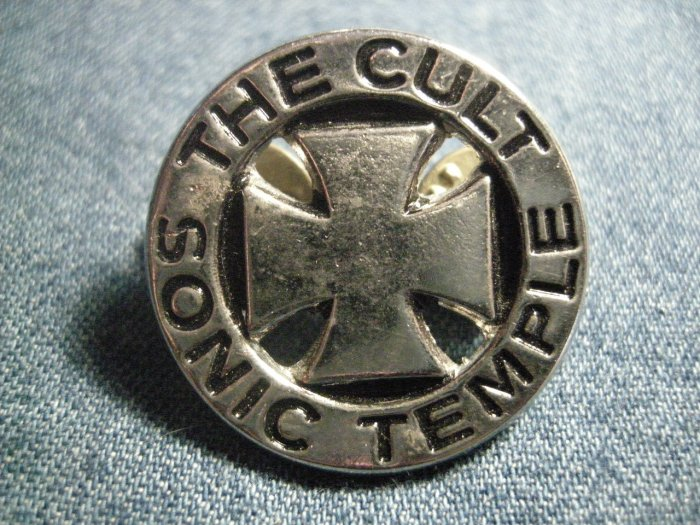 THE CULT METAL PIN Sonic temple logo badge VINTAGE