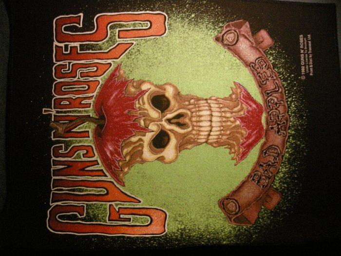 GUNS N ROSES BACKPATCH Bad Apples skull logo gnr patch VINTAGE