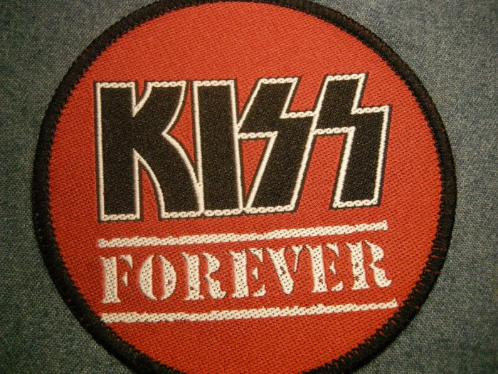 KISS sew-on PATCH Forever round VINTAGE