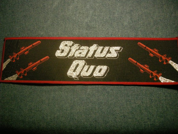 STATUS QUO sew-on PATCH Red Rockets strip JUMBO VINTAGE