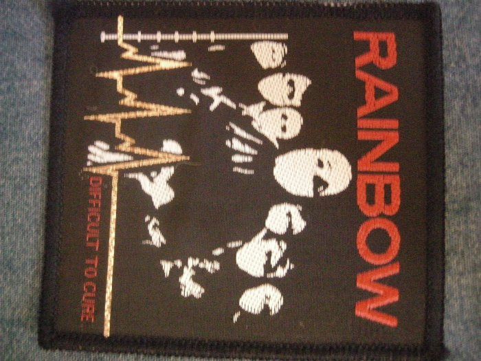 RAINBOW sew-on PATCH Difficult to Cure ritchie blackmore VINTAGE