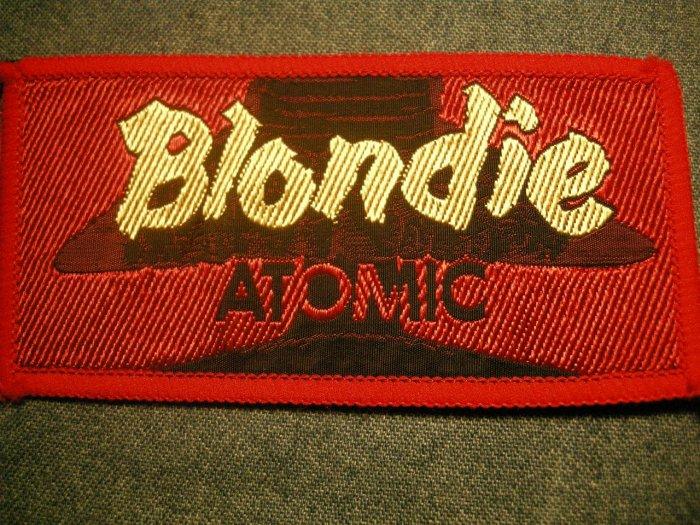 BLONDIE sew-on PATCH Atomic debbie harry VINTAGE