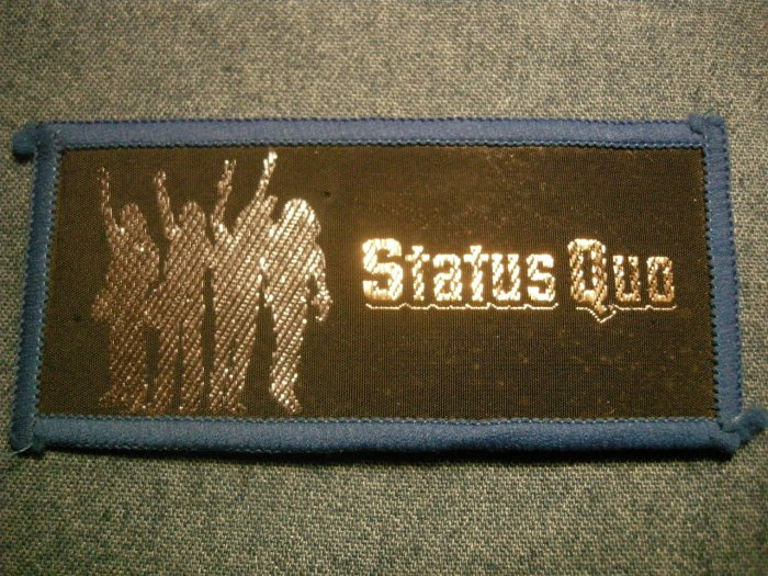 STATUS QUO sew-on PATCH group logo VINTAGE
