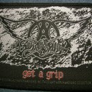 AEROSMITH sew-on PATCH Get a Grip logo IMPORT