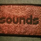 SOUNDS sew-on PATCH glitter magazine logo VINTAGE 80s!