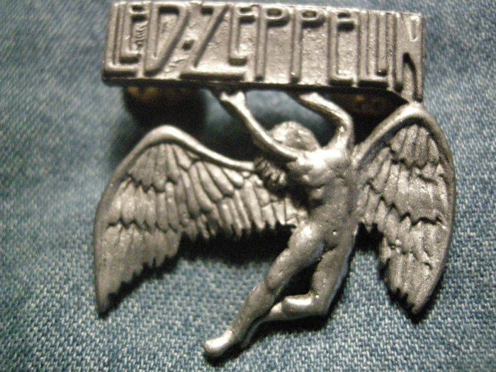 LED ZEPPELIN METAL PIN swan song angel logo badge VINTAGE