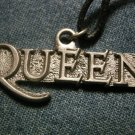 QUEEN METAL NECKLACE logo freddie mercury VINTAGE