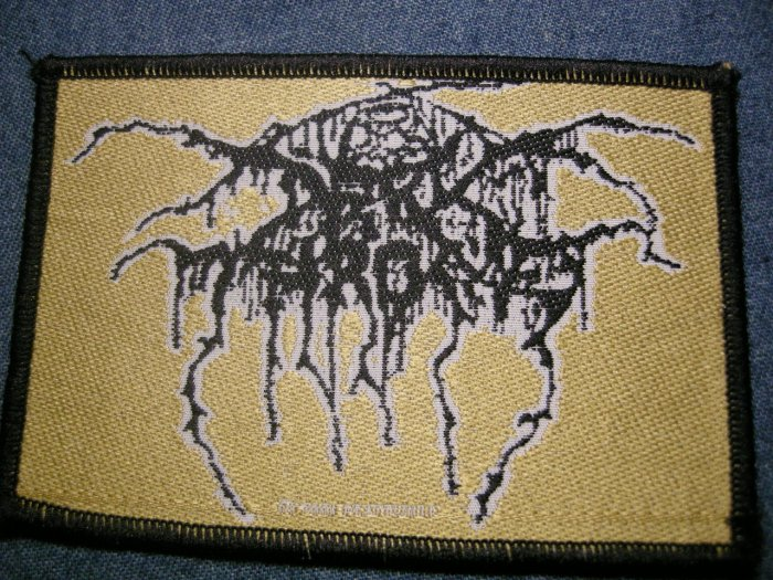 DARK THRONE sew-on PATCH logo darkthrone IMPORT
