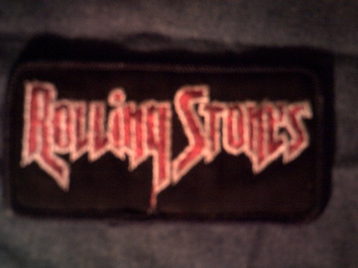 THE ROLLING STONES iron-on PATCH red logo VINTAGE 80s!