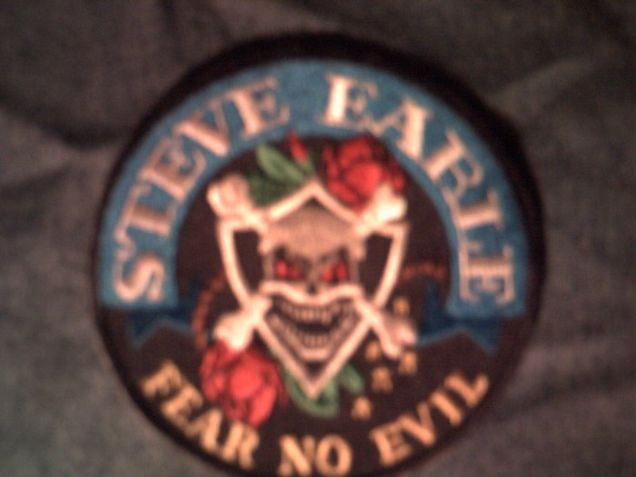 STEVE EARLE iron-on PATCH Fear No Evil skull HTF