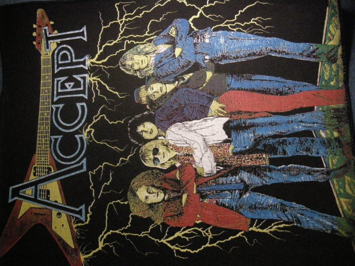 ACCEPT BACKPATCH band pic udo wolf patch VINTAGE