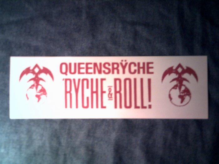 QUEENSRYCHE STICKER Ryche & Roll! red/white logo SCARCE!