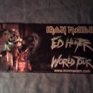IRON MAIDEN STICKER Ed Hunter World tour eddie HTF SCARCE!