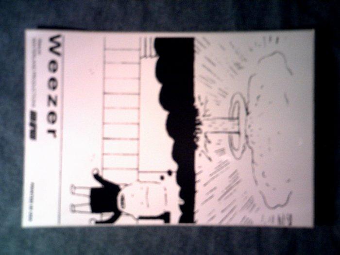 WEEZER STICKER migrane boy atomic bomb SCARCE!
