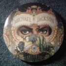 MICHAEL JACKSON PINBACK BUTTON Dangerous album art VINTAGE