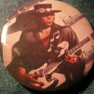 STEVIE RAY VAUGHAN PINBACK BUTTON Texas Flood double trouble
