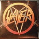 SLAYER PINBACK BUTTON classic sword pentagram logo VINTAGE
