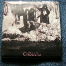 CINDERELLA PINBACK BUTTON color band pic square VINTAGE