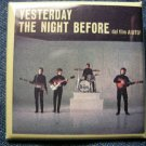 THE BEATLES PINBACK BUTTON Yesterday the Night Before square NEW!